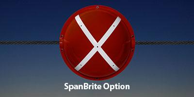 Power line marker SpanBrite option