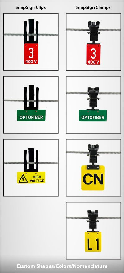 SnapSign Power Line Marking Letters and Numbers