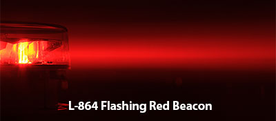 SunPOWR L-864 Flashing Red Beacon Solar Powered Obstruction Lights