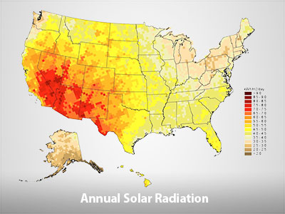 Annual Solar Radiation Map