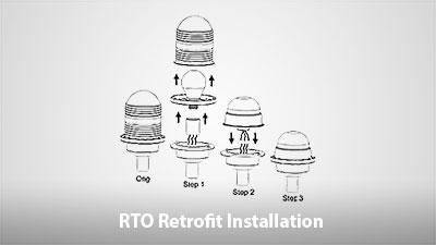 RTO Single & Dual Obstruction Light Retrofit Installation