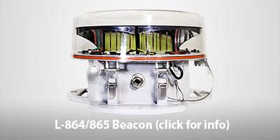 SunPOWR L-864/865 Beacon Solar Powered Obstruction Lights