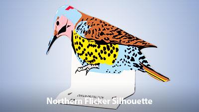Northern Flicker Silhouette
