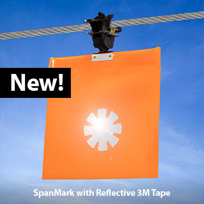 SpanMark Reflective Power Line Marking Flag