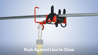 Push SnapFast Clamp Against Line to Close