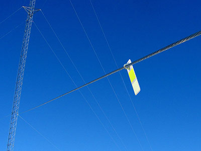 FireFly MET Bird Diverter for Power Lines